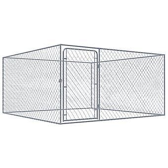 Hund udendørs bur galvaniseret stål 2x2x1 m
