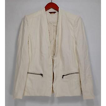 G.I.L.I. got it love it Twill en Faux Leather Blazer White