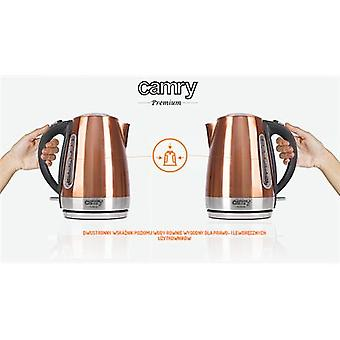 Camry Kettle CR 1271 Electric, 2200 W, 1.7 L, Stainless Steel, Copper, 360° Rotating Base