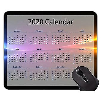 Mouse pads 260x210x3 2020 calendar custom original mouse pad colorful clouds mouse pad with stitched edge