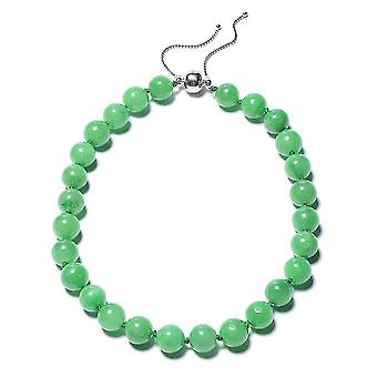 TJC grün Jade Perle String Halskette Sterling Silber 22 '' 801.01ct