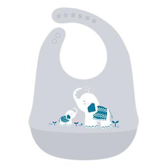 3pcs Baby Lätzchen Silikon Fütterung Lätzchen Wasserdichte LebensmittelKrümel Catcher Tasche Unisex