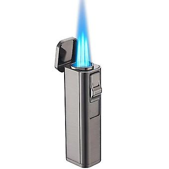 Metal Triple Torch Jet Lighter Turbo Cigar Pipe Lighter With Cigar Cutter Butane Gas Accessories