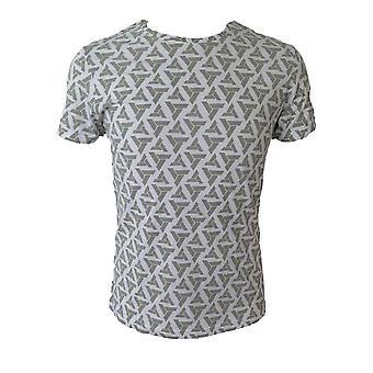 Assassin's Creed vuxna manliga Abstergo logotyp All-Over Print T-Shirt stora grå (TS090603ASC-L)
