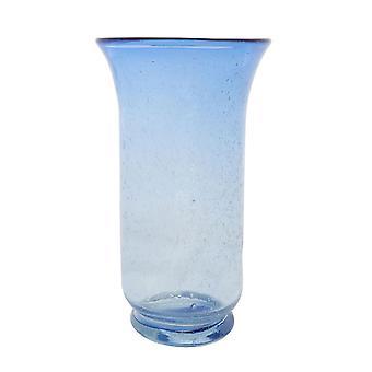 Ausgestellte Top Vase Clear/Purpule Glas für Heimtextilien