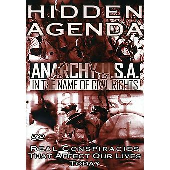 Hidden Agenda - Hidden Agenda: Vol. 4-Anarchy Usa in the Name of Civil Rights [DVD] USA import