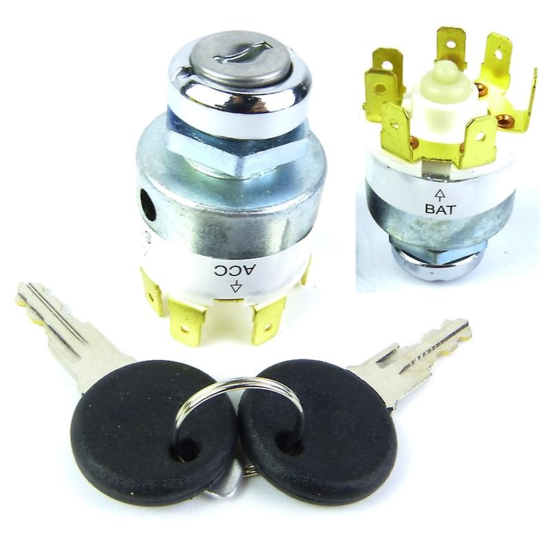 Motorcycle Electronics Universal Car Ignition Barrel Lock for 12 V Engines with 2 Keys