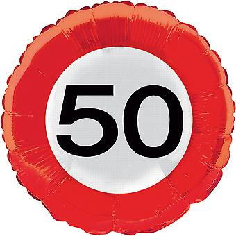 Folia 50 urodzinowe balonu helem balon ruchu znak numer