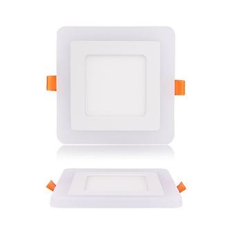 I LumoS Dual Colour LED 16 Watt Square Recessed Ceiling DownLight with Green Light
