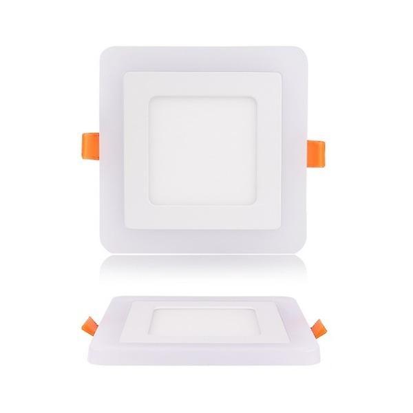 I LumoS Dual Colour LED 24 Watt Square Recessed Ceiling DownLight with Blue Light