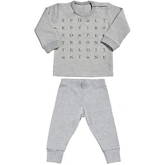 Spoilt Rotten SR Text Design Sweatshirt & Jersey Trousers Baby Outfit Set