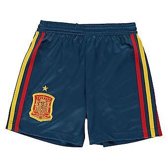 2018-2019 Spain Home Adidas Football Shorts (Kids)