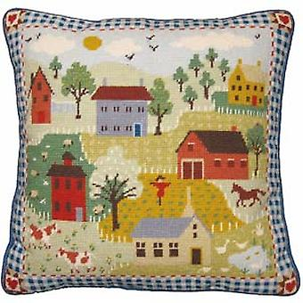 Shaker dorp Needlepoint Kit