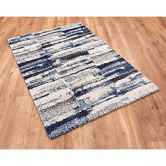 Mehari 23135 6151 Blau Creme Rechteck Teppiche moderne Teppiche