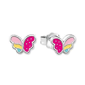 Prinzessin Lillifee Kinder Ohrringe Silber Schmetterling 2018037