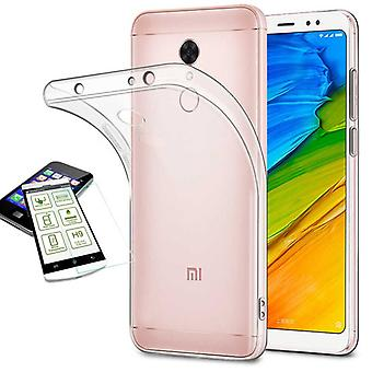 Silikoncase gennemsigtig + 0.3 H9 hærdet glas for Xiaomi Redmi 5 Pocket tilfælde dække