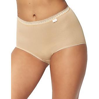 Sans Complexe 619073 Women's Classique Coton Skin Solid Colour Lace Knickers Panty Full Brief