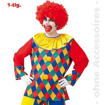 Clown Kostüm Herren Clownshirt Comedy Harlekin Herrenkostüm