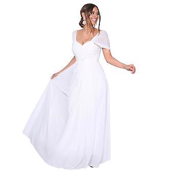 KRISP kvinnor på off Shoulder kväll bröllop lång brudtärna klänning Maxi balklänning 8-20
