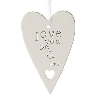 Lotes e lotes placa de coração
