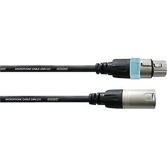 Cordial CCM 10 FM XLR Kabel [1x XLR-Buchse - 1x XLR Stecker] 10.00 m Schwarz