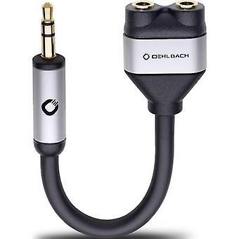 Oehlbach i połączyć J-adapter AD Jack Audio/chinch Y [1 x Wtyk Jack 3,5 mm - 2 x gniazdo Jack 3,5 mm] czarny