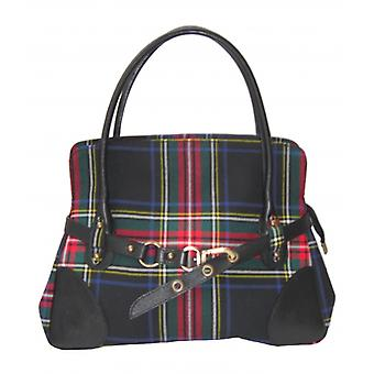 حقيبة يد الترتان R (ستيوارت أسود)
