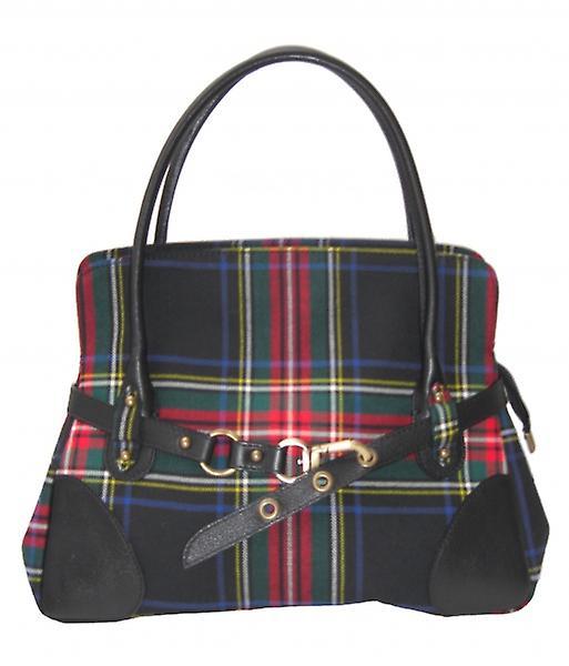 Tartan Handbag R (Stewart Black)