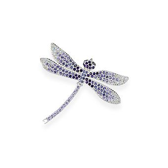 Amethyst brooch with crystals from Swarovski 7107
