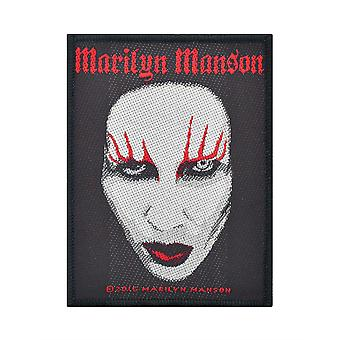 Marilyn Manson Face Woven Patch