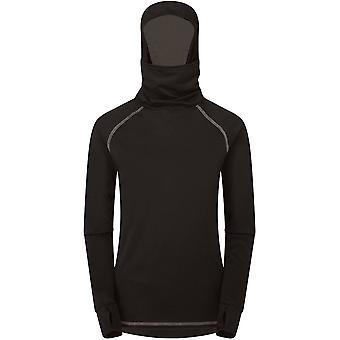 Bulletins d'enneigement Manbi Kids Warrior Supatherm Sweat à capuche - noir