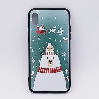 iPhone X pouch-Christmas-polar bear with Hat