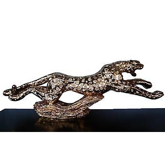 Leopardi kulta, veistos 134x30x16 cm