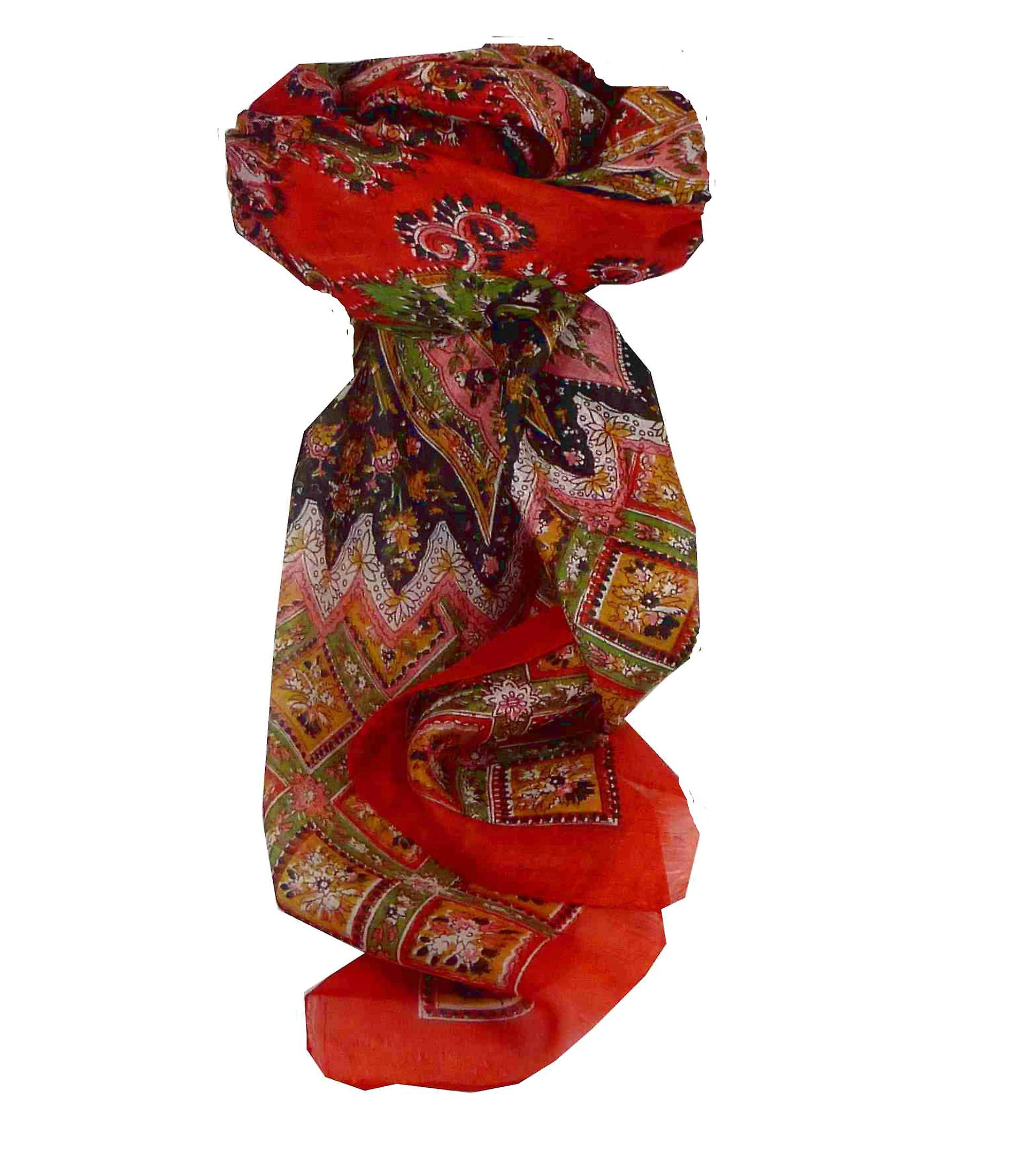 Mulberry Silk Traditional Square Scarf Nagal Flame by Pashmina & Silk