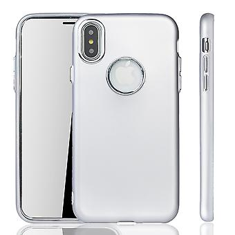 Apple iPhone X / XS Hülle - Handyhülle für Apple iPhone X / XS - Handy Case in Silber