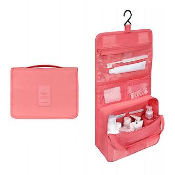 Pink Travel toiletry bag for men as a woman large capacity
