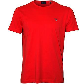 Gant Original Solid Crew-Neck T-Shirt, Watermelon Red