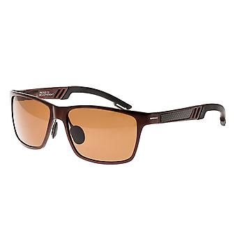 Breed Pyxis Titanium Polarized Sunglasses - Brown/Brown
