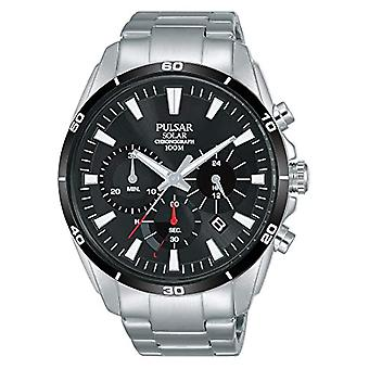 Pulsar Solar Chronograph Watch Man with stainless steel strap PZ5059X1