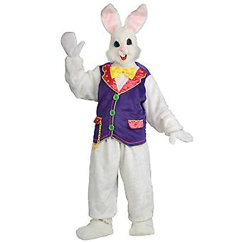 Easter Bunny Quality Deluxe Plush Mascot Rabbit Suit Adult Mens Costume STD