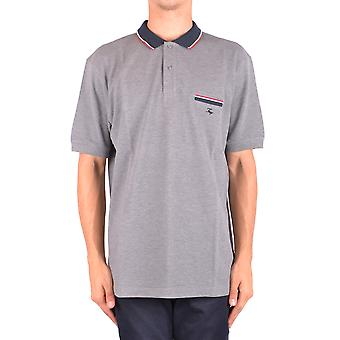 Fay Ezbc035045 Men's Grey Cotton Polo Shirt