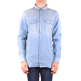 Balmain Ezbc005012 Men's Light Blue Cotton Shirt