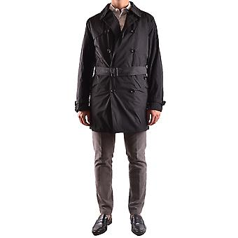 Allegri Ezbc097001 Men-apos;s Black Polyester Trench Coat