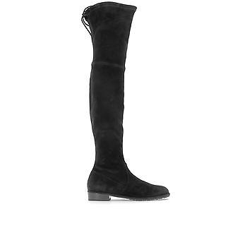 Stuart Weitzman Lowlandsuedeblack Women's Black Suede Boots
