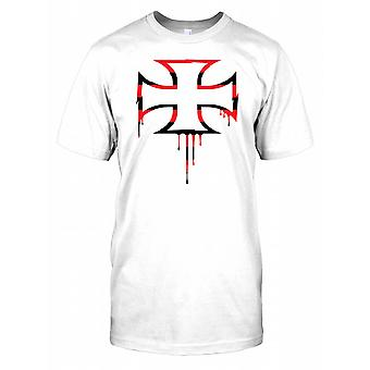 Biker - deutscher Iron Cross Herren T Shirt