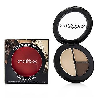 Smashbox Photo Edit Eye Shadow Trio - # Nudie Pic Medium (hazelnut Wheat Cashew Outside - 3.2g/0.11oz