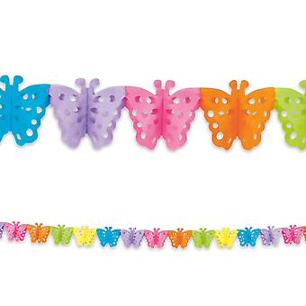 4m Long Paper Garland Bunting Butterfly Childrens Party Decoratiom