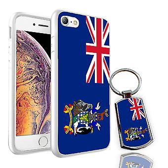 For Samsung Galaxy J5 2016 - South Georgia and the South Sandwich Islands Flag Design Printed White Case Skin Cover + Free Metal Keyring - 0232 by i-Tronixs