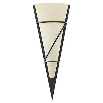 Eglo - Pascal 1 marrone antico & vetro triangolare parete luce EG87793