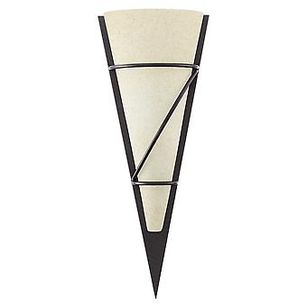 Eglo - Pascal 1 brun Antique & verre mur triangulaire lumineux EG87793